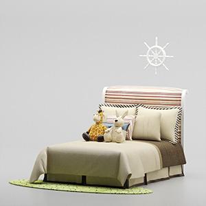 儿童床3D模型-1402C2