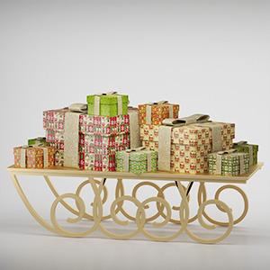 礼品盒3D模型-0320L1