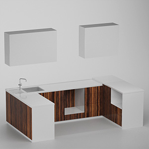 厨房组合3D模型-0412C9
