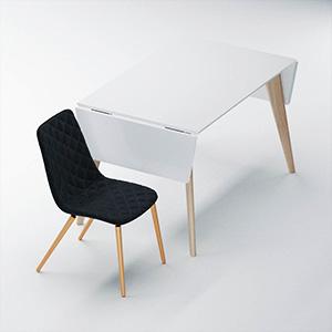 折叠桌椅组合3D模型-0107ZY19