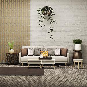 沙发茶几组合3D模型-010206S5