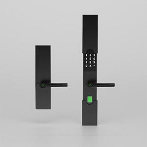 指纹密码锁3D模型-0608B4