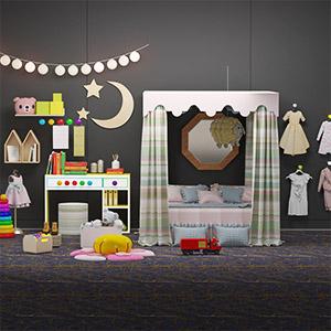 儿童床玩具3D模型-1402C3