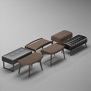 沙发脚踏3D模型-010208T1