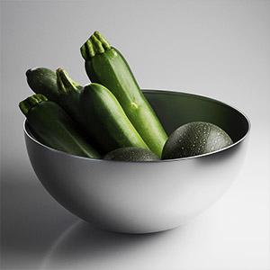 绿皮西葫芦青瓜3D模型-0405S2