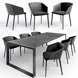 桌椅组合3D模型-0107ZY20