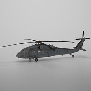 UH-60黑鹰直升机3D模型-1105JZ9