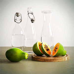 水果瓶子3D模型-0404S5