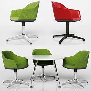 桌椅组合3D模型-0107ZY23