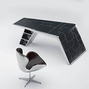 桌椅组合3D模型-0107ZY24