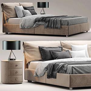 现代床3D模型-0101C34