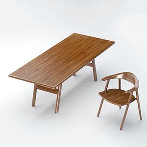 桌椅组合3D模型-0107ZY26