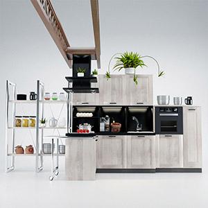 厨房组合3D模型-0412C11