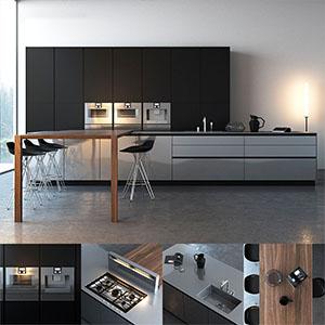 厨房组合3D模型-0412C10
