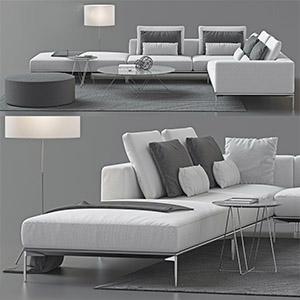 沙发组合3D模型-010206S6