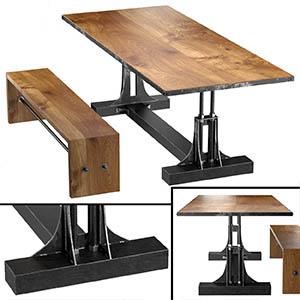 桌椅组合3D模型-0107ZY28