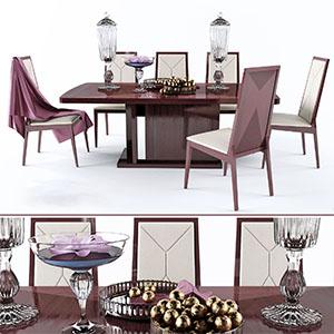桌椅组合3D模型-0107ZY29