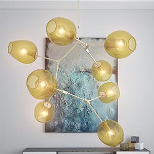 现代金属吊灯3D模型-0202D40