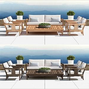 户外沙发3D模型-010209S1