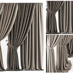 窗帘3D模型-0302F6