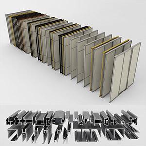 办公室隔断3D模型-0609G5