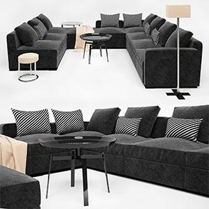 多人沙发组合3D模型-010206S7