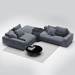 沙发茶几组合3D模型-010206S8