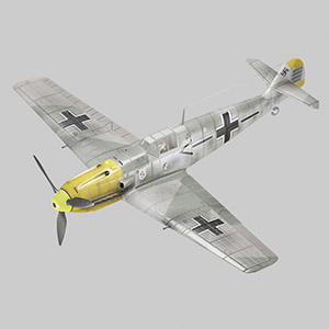 二战德国me109轰炸机 Me109e von Galland-3D模型-1103F21