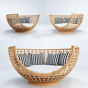 现代时尚休闲椅3D模型-010408XY3