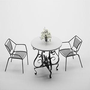 桌椅组合3D模型-0107ZY31
