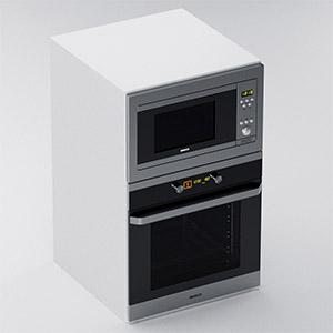 现代烤箱3D模型-0415S3