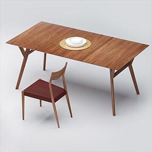 桌椅3D模型-0107ZY32