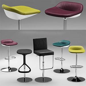 现代吧椅3D模型-010402D7