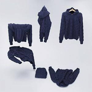 毛衣3D模型-0309Y7