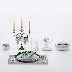餐具组合3D模型-0410C17