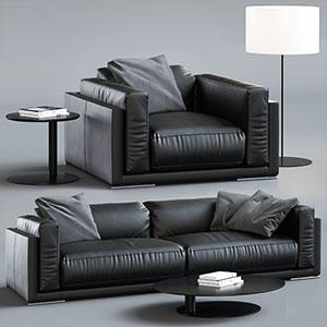 沙发组合3D模型-010205S32