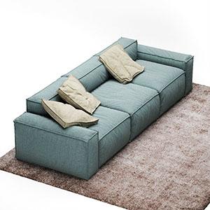 三人沙发3D模型-010203S45