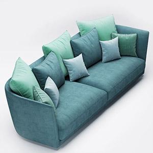 双人沙发3D模型-010202S27