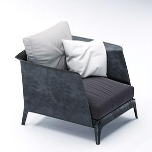 单人沙发3D模型-010201S22