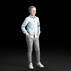 儿童男孩3D模型-0803T3