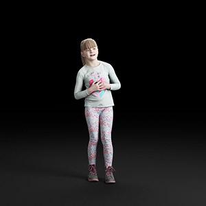 儿童女孩3D模型-0803T2