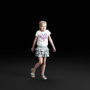 儿童女孩3D模型-0803T1