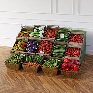 蔬菜商品3D模型-1305S10
