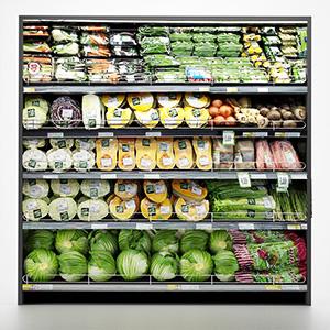 货架上的蔬菜3D模型-1305S25