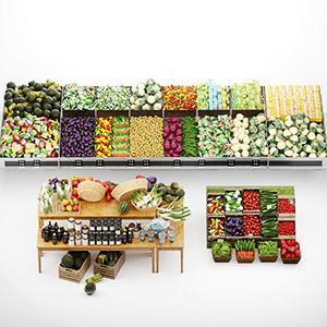 货架上的蔬菜3D模型-1305S26