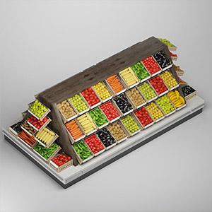 货架上的蔬菜3D模型-1305S28