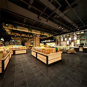 超市商场3D模型-1601C1