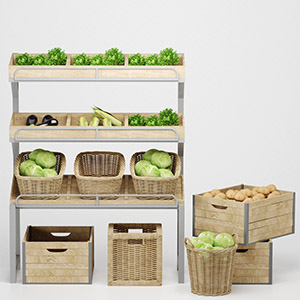 超市商场蔬菜3D模型-1305S28