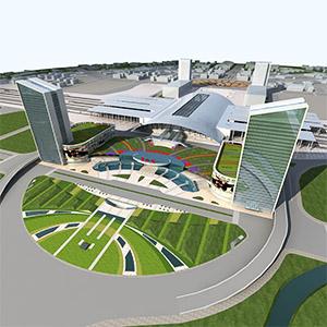 唐山高铁站3D模型-1702C1