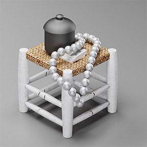 凳子与摆件3D模型-0103D8